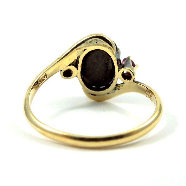 Hematite & Ruby Ring Image 3 Joint Venture Jewelry Cary, NC