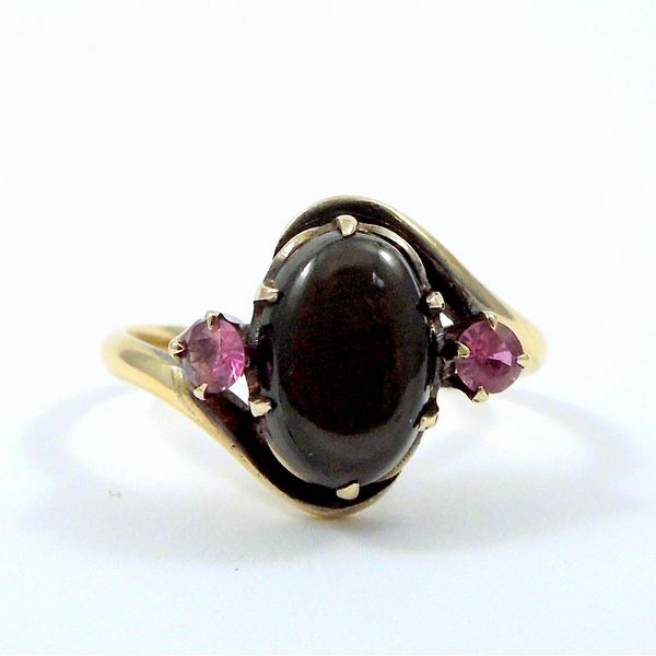 Hematite & Ruby Ring Joint Venture Jewelry Cary, NC