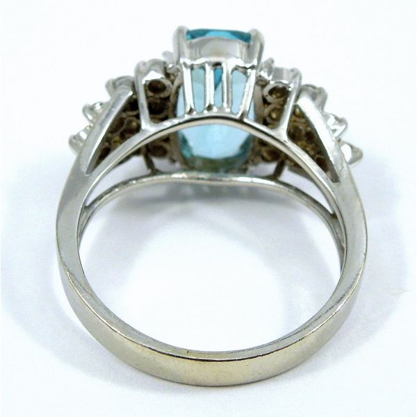 Aquamarine and Diamond Ring Image 2 Joint Venture Jewelry Cary, NC
