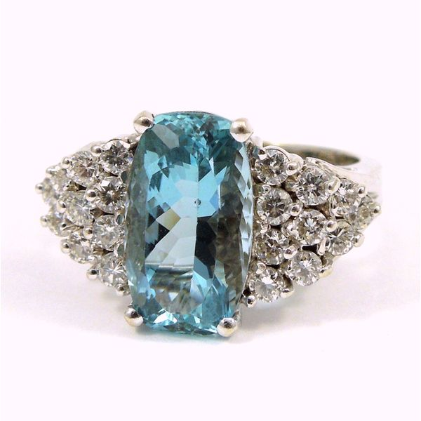 Aquamarine and Diamond Ring Joint Venture Jewelry Cary, NC