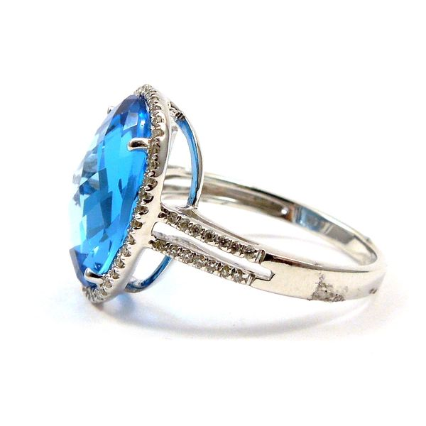 Blue Topaz and Diamond Ring Image 2 Joint Venture Jewelry Cary, NC