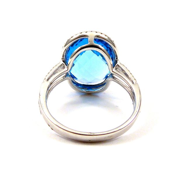 Blue Topaz and Diamond Ring Image 3 Joint Venture Jewelry Cary, NC