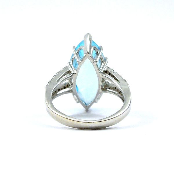 Marquise Cut Blue Topaz and Diamond Ring Image 3 Joint Venture Jewelry Cary, NC