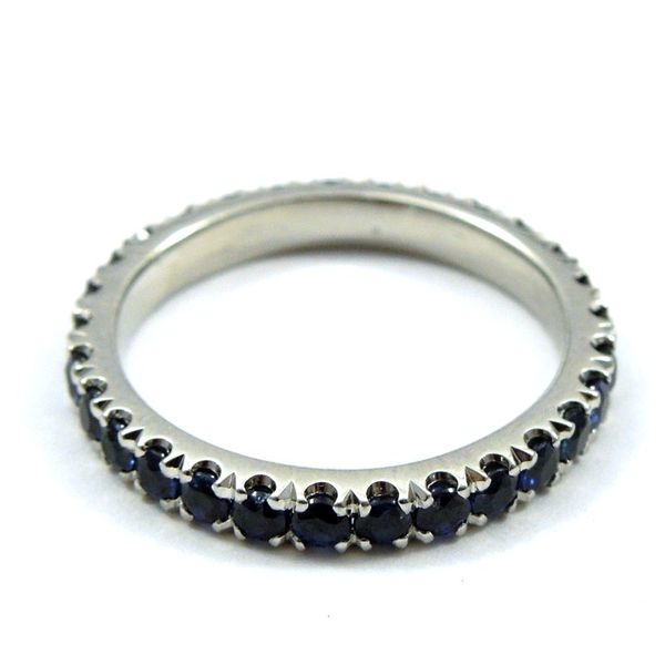 Sapphire Eternity Wedding Band Image 2 Joint Venture Jewelry Cary, NC