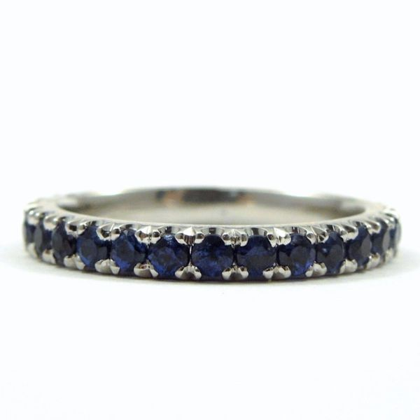 Sapphire Eternity Wedding Band Joint Venture Jewelry Cary, NC