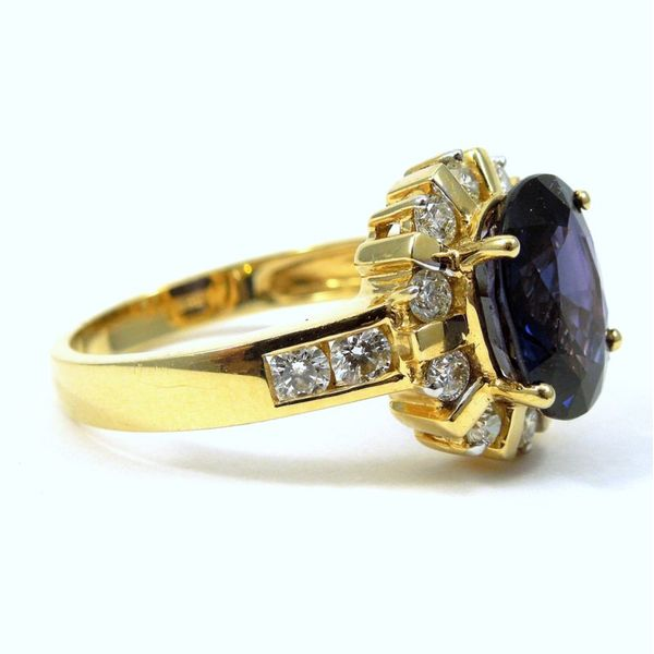 Color Changing Sapphire and Diamond Ring Image 2 Joint Venture Jewelry Cary, NC