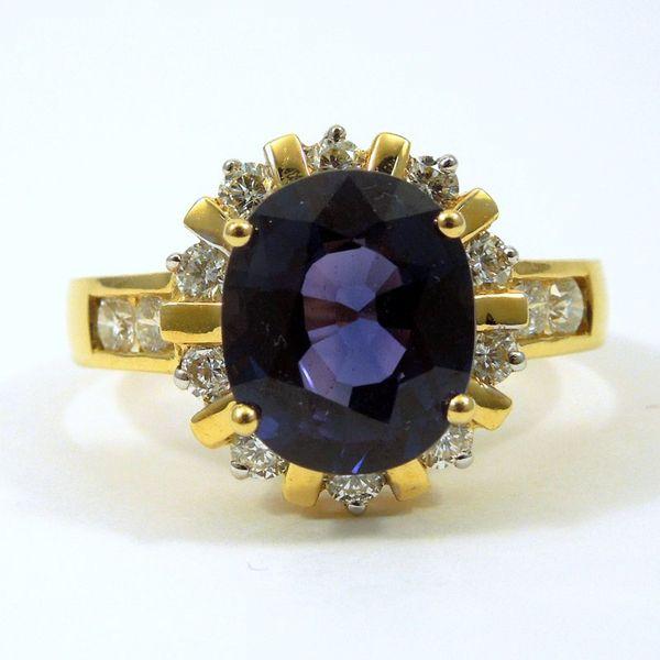 Color Changing Sapphire and Diamond Ring Joint Venture Jewelry Cary, NC