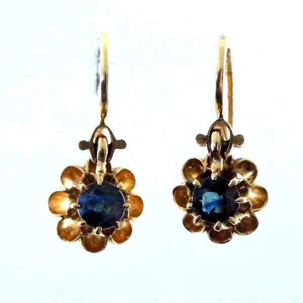 Blue Flower Earrings Joint Venture Jewelry Cary, NC