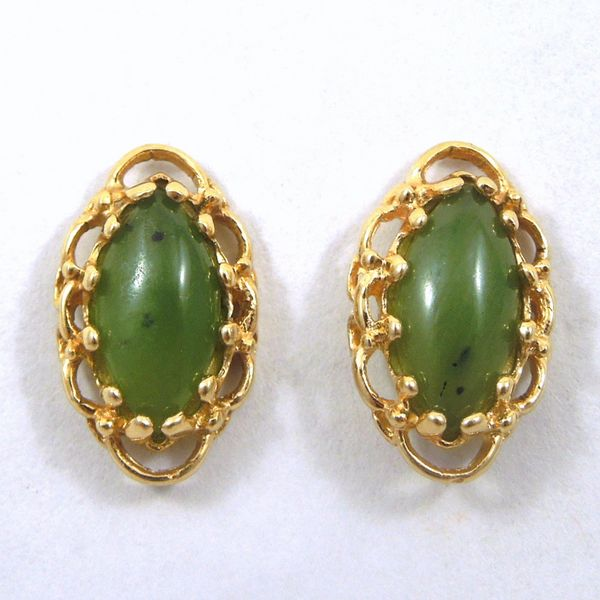 Jade Stud Earrings Joint Venture Jewelry Cary, NC