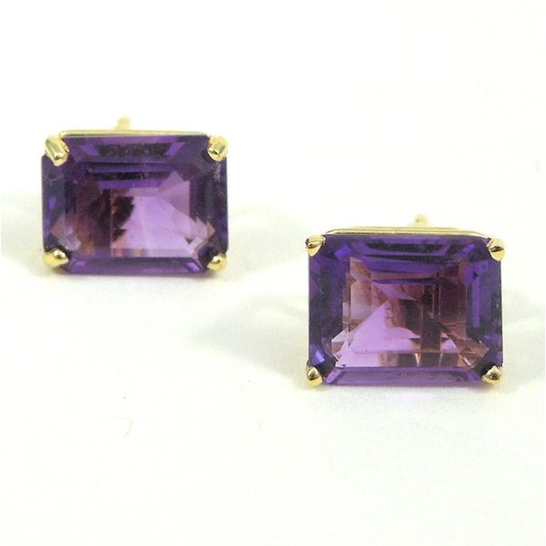Emerald Cut Amethyst Studs Joint Venture Jewelry Cary, NC