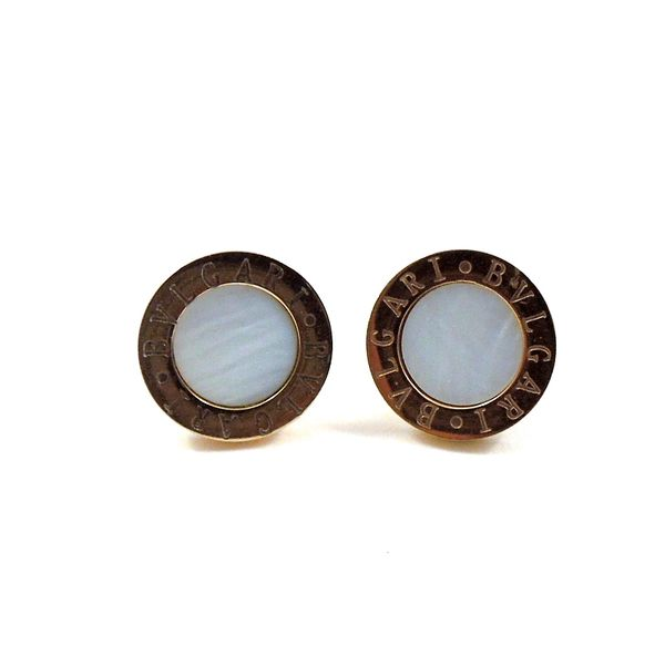 Bvlgari Mother of Pearl Earrings Joint Venture Jewelry Cary, NC