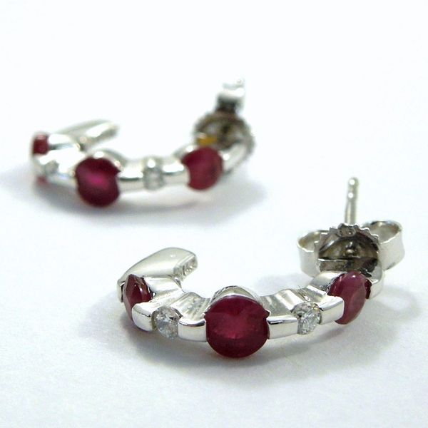 Ruby & Diamond Earrings Image 2 Joint Venture Jewelry Cary, NC