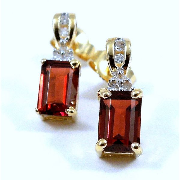 Garnet Earrings Joint Venture Jewelry Cary, NC