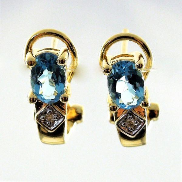 Blue Topaz Earrings Joint Venture Jewelry Cary, NC