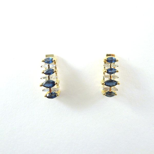 Sapphire and Diamond Earrings Joint Venture Jewelry Cary, NC