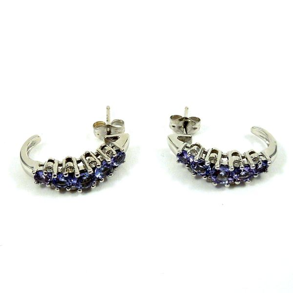 Tanzanite Earrings Image 2 Joint Venture Jewelry Cary, NC