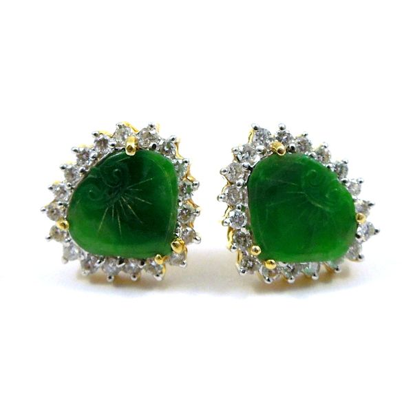 Carved Emerald Earrings Joint Venture Jewelry Cary, NC