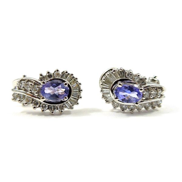 Tanzanite and Diamond Earrings Joint Venture Jewelry Cary, NC