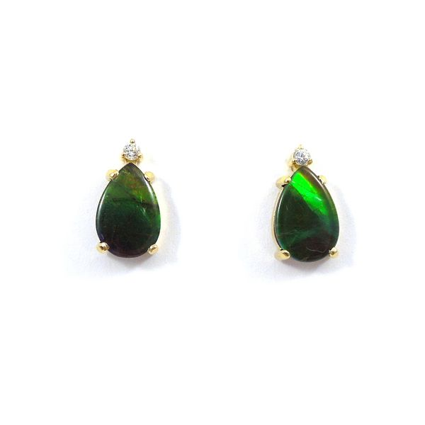 Ammolite Stud Earrings Joint Venture Jewelry Cary, NC