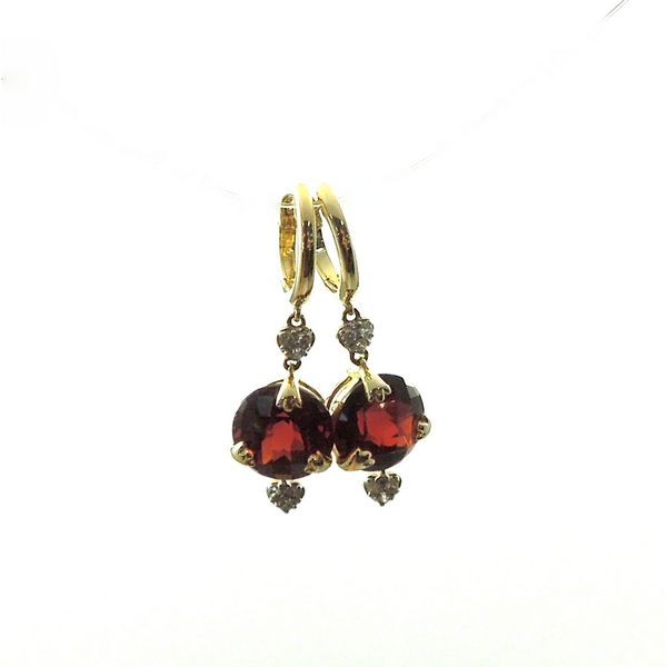 Garnet Earrings Image 2 Joint Venture Jewelry Cary, NC