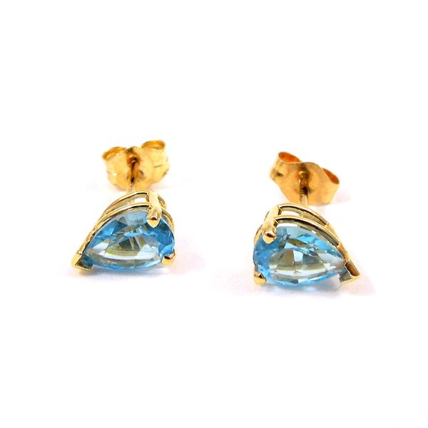 Blue Topaz Stud Earrings Image 2 Joint Venture Jewelry Cary, NC