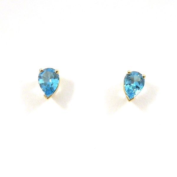 Blue Topaz Stud Earrings Joint Venture Jewelry Cary, NC