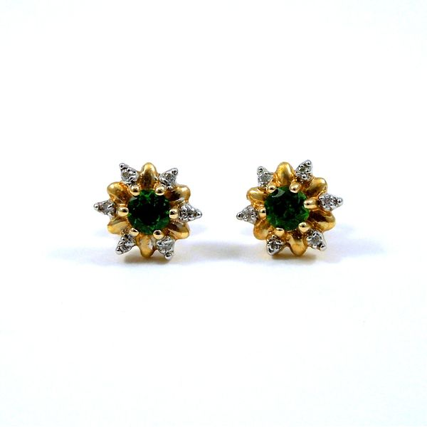 Green Tourmaline & Diamond Earrings Joint Venture Jewelry Cary, NC
