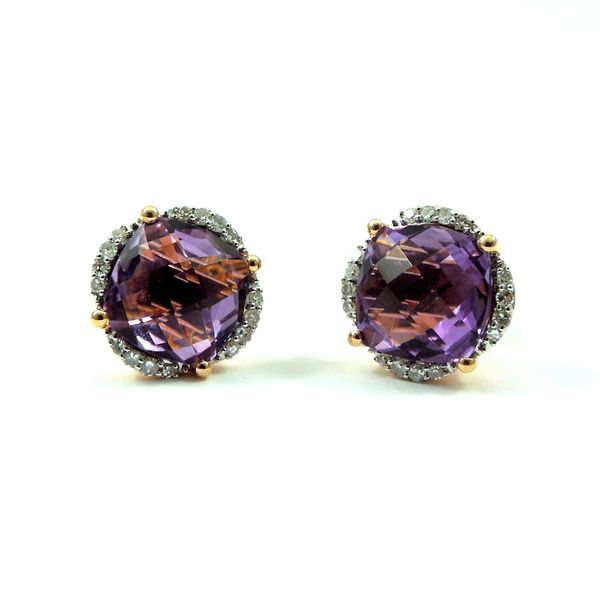 Amethyst and Diamond Earrings Joint Venture Jewelry Cary, NC