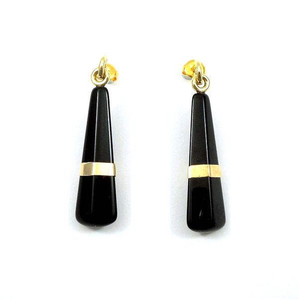 Estate Onyx Drop Earrings Joint Venture Jewelry Cary, NC