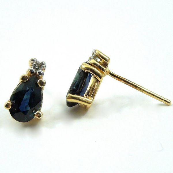 Pear Cut Sapphire Earrings Image 2 Joint Venture Jewelry Cary, NC