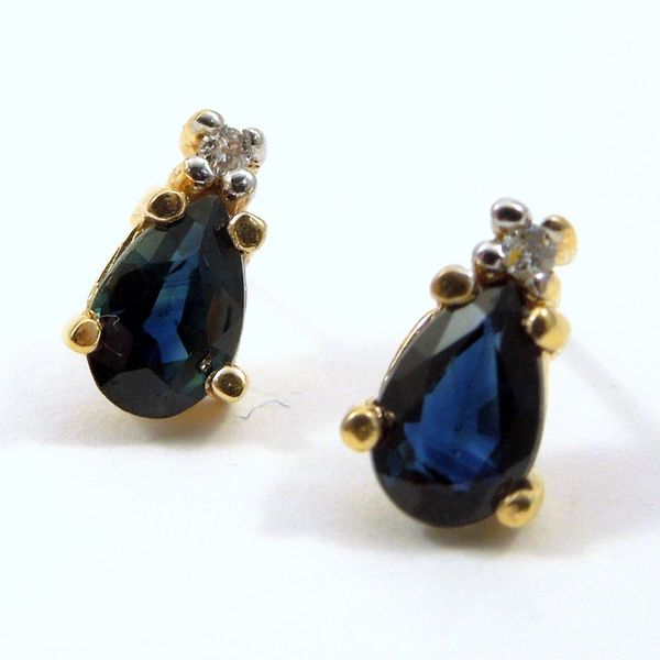 Pear Cut Sapphire Earrings Joint Venture Jewelry Cary, NC