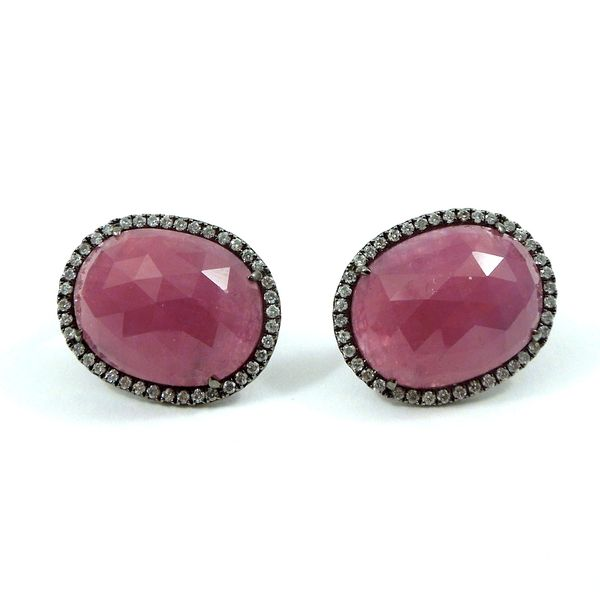 Ruby and Diamond Earrings Joint Venture Jewelry Cary, NC