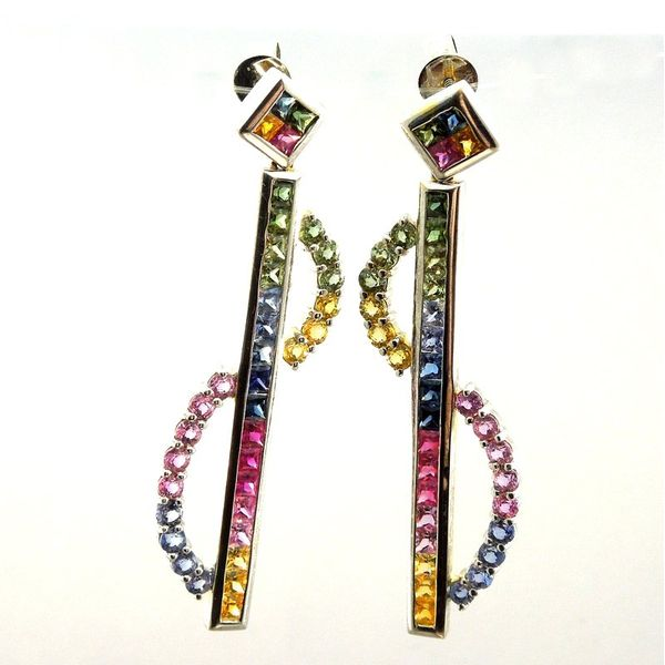 Rainbow Sapphire Earrings Joint Venture Jewelry Cary, NC