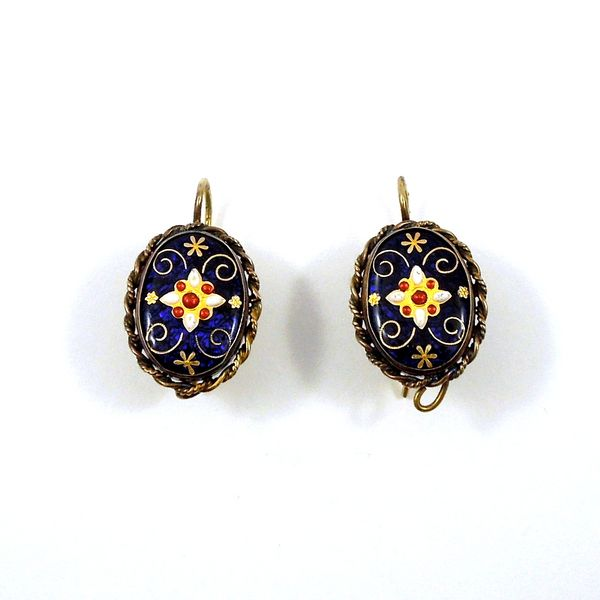 Vintage Victorian Enamel Earrings Joint Venture Jewelry Cary, NC