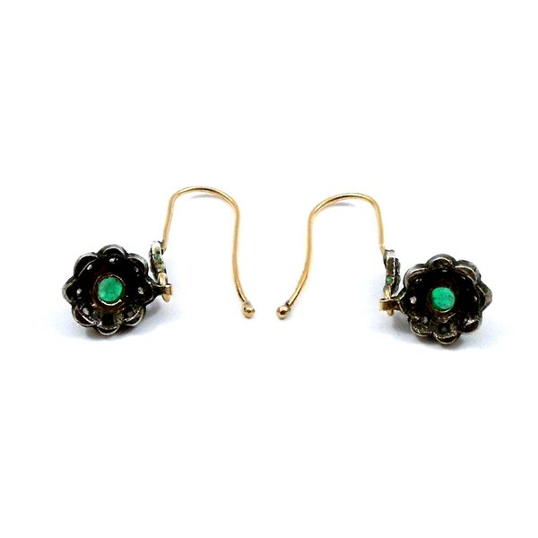 Vintage Cabochon Emerald and Rose Cut Diamond Earrings Image 2 Joint Venture Jewelry Cary, NC