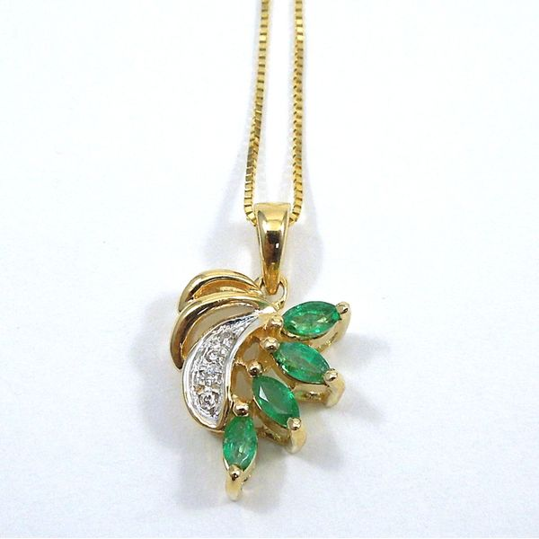 Emerald & Diamond Pendant Joint Venture Jewelry Cary, NC