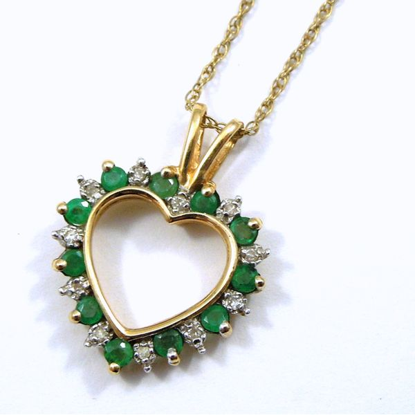 Emerald Heart Pendant Joint Venture Jewelry Cary, NC