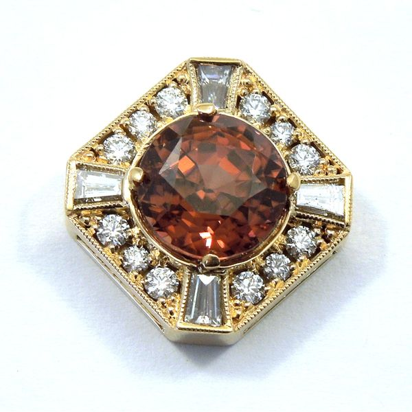 Orange Zircon Pendant Joint Venture Jewelry Cary, NC