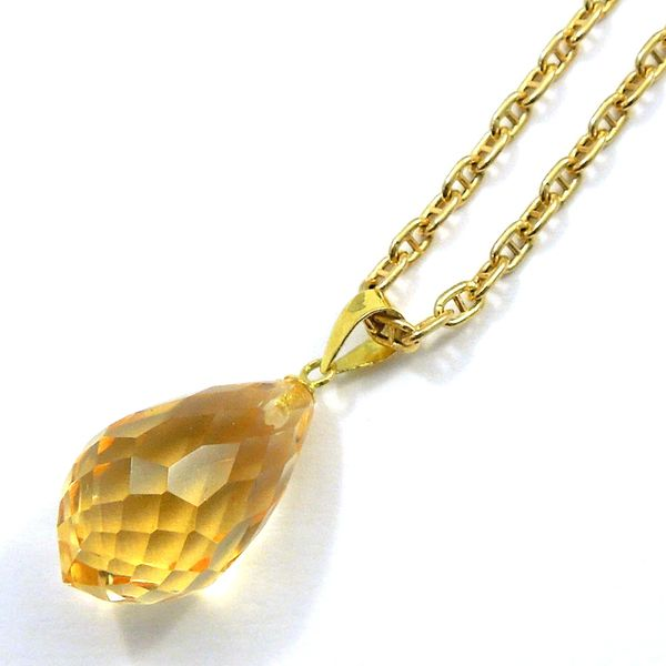 Birolette Cut Citrine Pendant Joint Venture Jewelry Cary, NC
