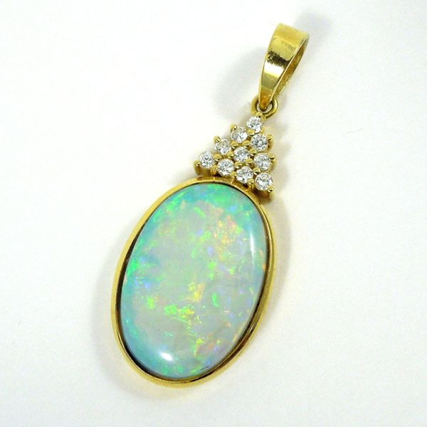 Opal and Diamond Pendant Joint Venture Jewelry Cary, NC