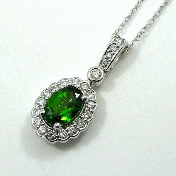Chrome Diopside and Diamond Pendant Joint Venture Jewelry Cary, NC