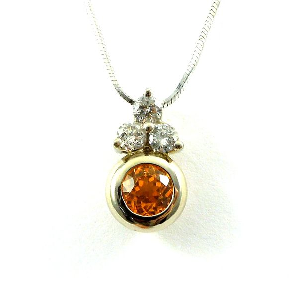 Citrine and Diamond Pendant Joint Venture Jewelry Cary, NC