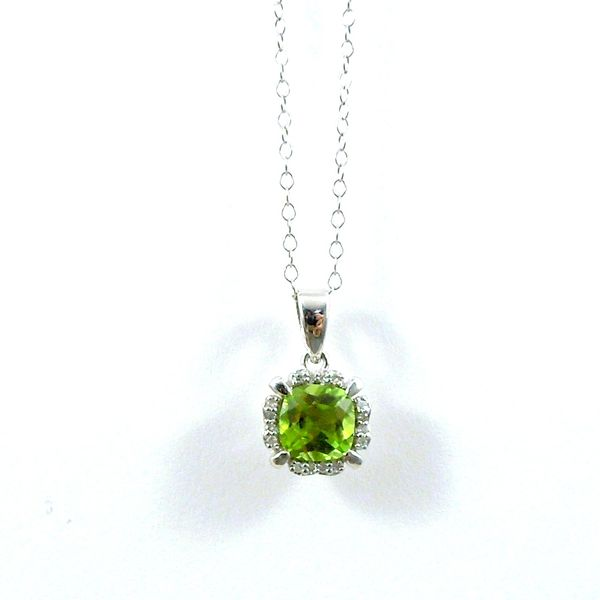 Peridot and Diamond Pendant Joint Venture Jewelry Cary, NC