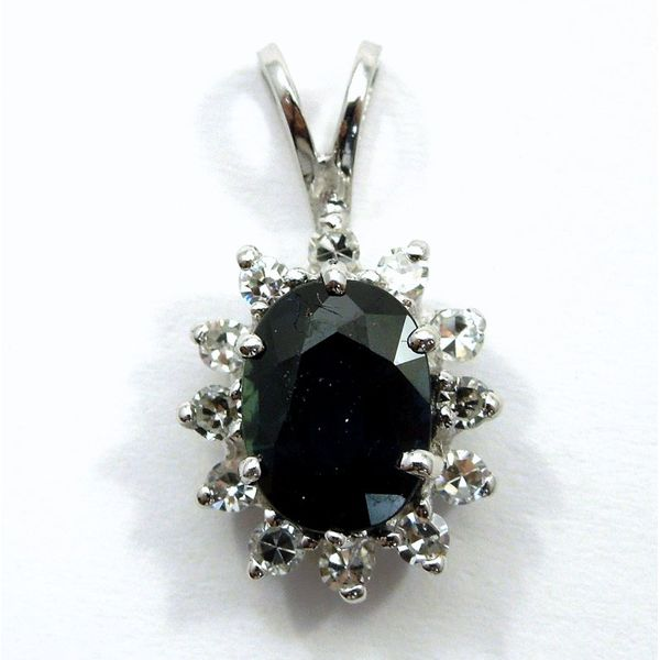 Sapphire and Diamond Pendant Joint Venture Jewelry Cary, NC