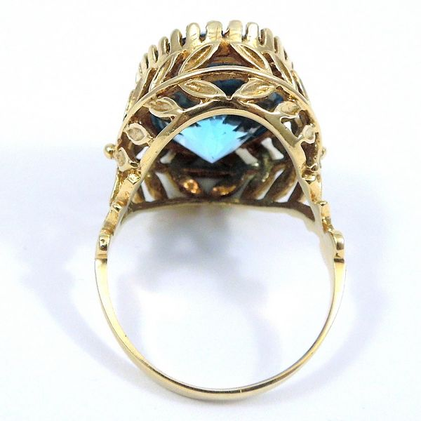 Vintage Blue Topaz Ring Image 2 Joint Venture Jewelry Cary, NC