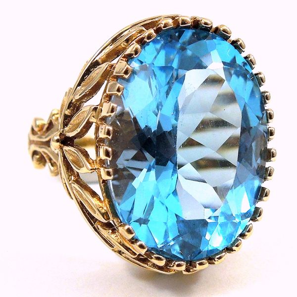 Vintage Blue Topaz Ring Joint Venture Jewelry Cary, NC