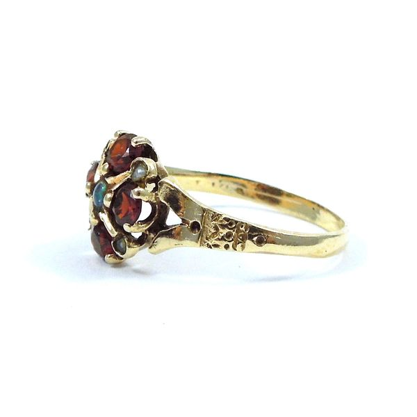 Vintage Garnet and Pearl Ring Image 2 Joint Venture Jewelry Cary, NC