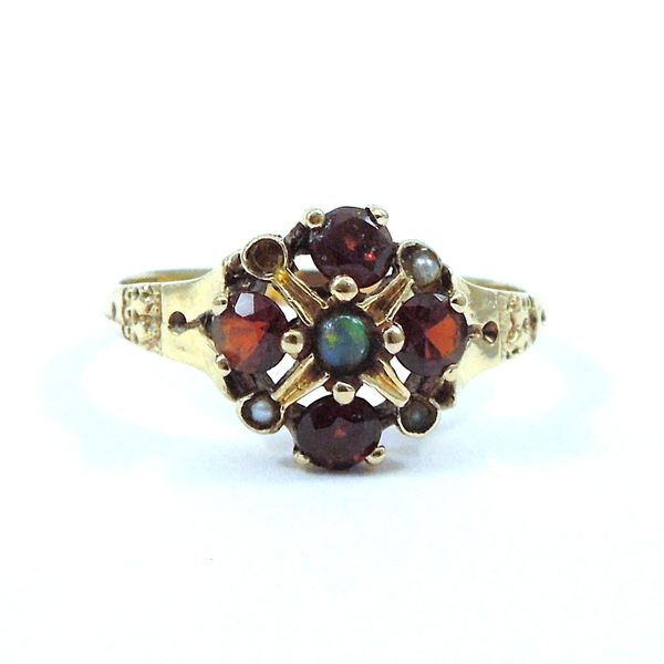 Vintage Garnet and Pearl Ring Joint Venture Jewelry Cary, NC