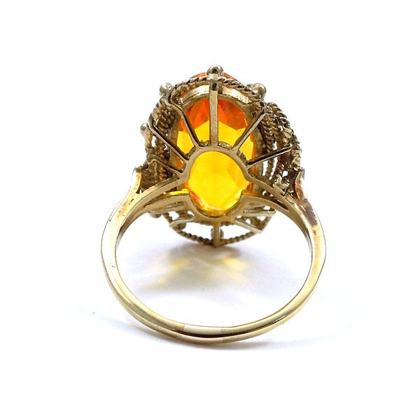 Vintage Citrine Ring Image 3 Joint Venture Jewelry Cary, NC
