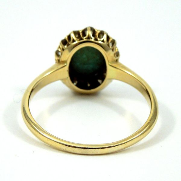 Vintage Turquoise and Diamond Ring Image 3 Joint Venture Jewelry Cary, NC